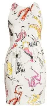 Moschino Sleeveless Printed Sheath Dress