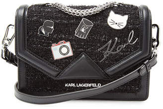 Karl Lagerfeld K/Klassik Leather Crossbody Bag with Embellishment