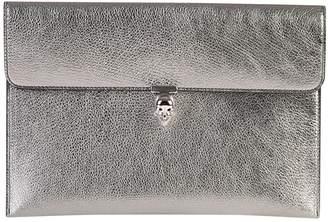 Alexander McQueen Metallic Leather Clutch