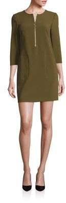 Trina Turk Solid Roundneck Shift Dress $278 thestylecure.com