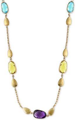 Effy Multi-Gemstone and Teardrop Statement Necklace (13-1/2 ct. t.w.) in 14k Gold
