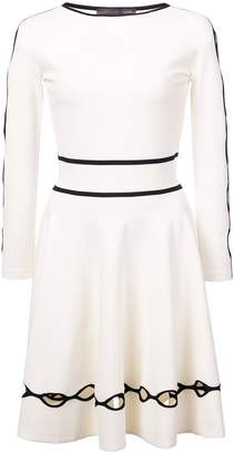 Alexander McQueen cut out pleated dress