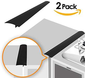 Gap Linda's Silicone Kitchen Stove Counter Cover Long & Wide Filler (2 Pack) Seals Spills Between Counters