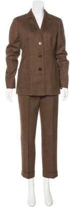 Loro Piana Wool Mid-Rise Pant Suit