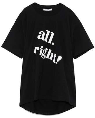 Snidel (スナイデル) - SNIDEL ビックロゴTシャツ ブラック