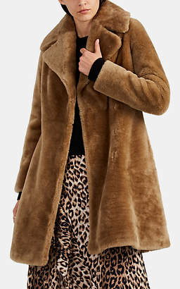 Barneys New York Women's Lamb Fur Coat - Brown