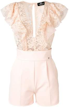 Elisabetta Franchi lace embroidered playsuit