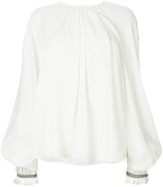 Chloé poet sleeve blouse