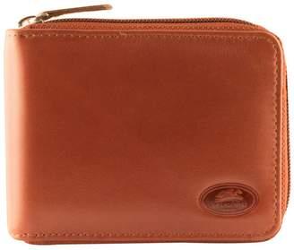 Mancini Zipper Leather Wallet