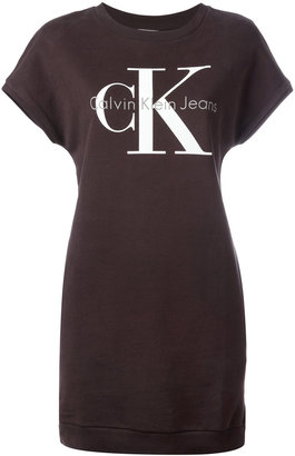 Calvin Klein Jeans iconic logo T-shirt dress $97.03 thestylecure.com