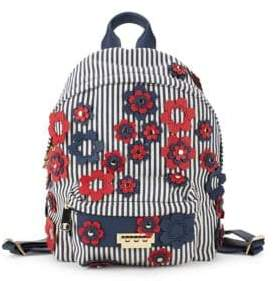 Zac Posen Stripe and Floral Backpack