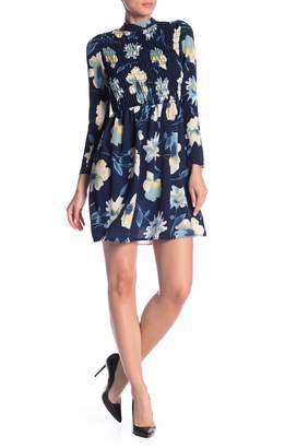 Velvet Torch Floral Smock Front Dress