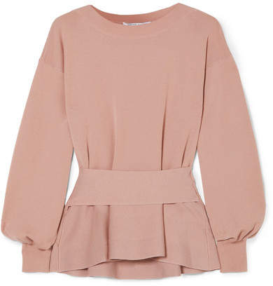 Agnona - Wool Peplum Top - Blush