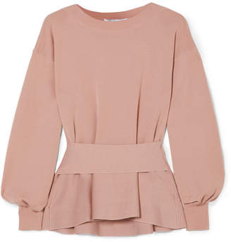 Agnona Wool Peplum Top - Blush