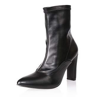 AIIT Women's Fashion Chunky High Heel Ankle Boot Shoe