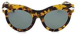 b39357b1dd7 Karen Walker Women s Miss Lark 52MM Cat Eye Sunglasses