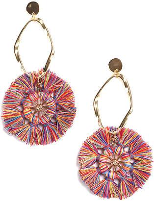 Eye Candy Los Angeles Eye Candy La Avah Round Multi Color Earrings