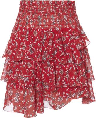 Intermix Keelan Ruffle Mini Skirt