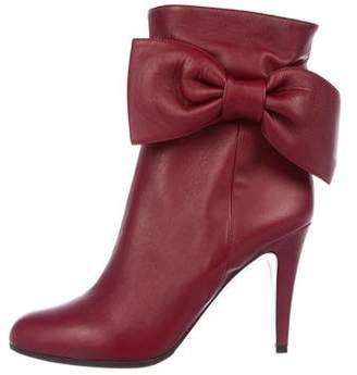 Valentino Leather Bow-Accented Boots w/ Tags