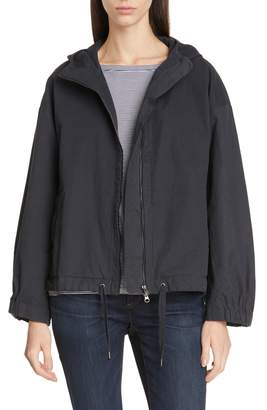 Eileen Fisher Organic Cotton Blend Hooded Jacket