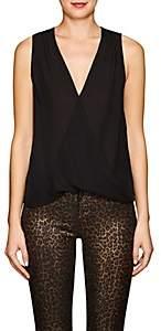 L'Agence Women's Mila Silk Draped Blouse - Black