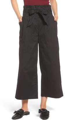 Women's Soprano Paperbag Waist Wide Leg Pants $39 thestylecure.com