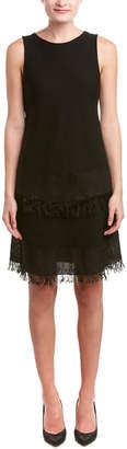 Theory Jurinzi.Prosecco Relaxed Knit Fringe Shift Dress