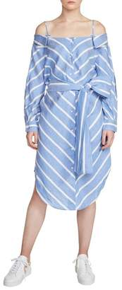 Maje Rulylle Cold Shoulder Shirtdress