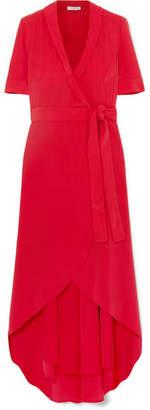 Equipment Imogene Silk Wrap Midi Dress - Red