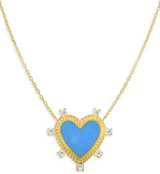 Chloé & Madison Crystal Heart Pendant Necklace