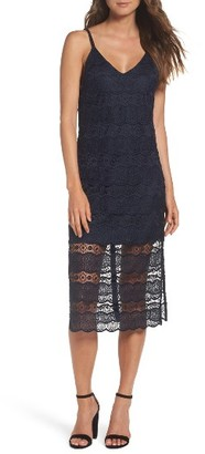 Women's Betsey Johnson Lace Midi Dress $148 thestylecure.com