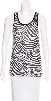 Generation Love Zebra Print Sleeveless Top