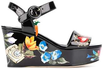 Dolce & Gabbana Bianca romantic wedge sandals