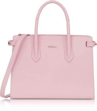 Furla Camelia Leather E/W Pin Small Tote Bag