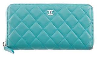 Chanel Quilted L-Gusset Wallet