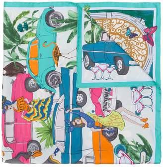 Salvatore Ferragamo car print scarf