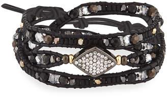Nakamol Beaded Leather Wrap Bracelet