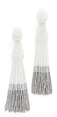 Oscar de la Renta Long Ombre Tassel Clip On Earrings $395 thestylecure.com