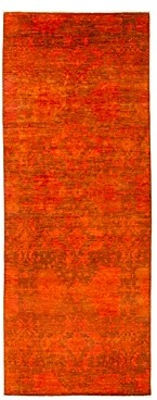 Vibrance Overdyed Area Rug, 4'10 x 12'9
