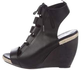 Pierre Hardy Leather Lace-Up Wedges
