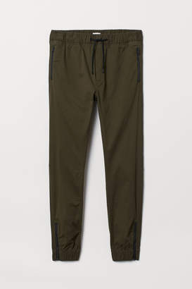 H&M Cotton Joggers - Green