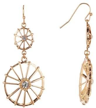 Melrose and Market Double Drop Wagon Wheel Dangle Earrings