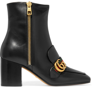Gucci - Leather Ankle Boots - Black $1,290 thestylecure.com