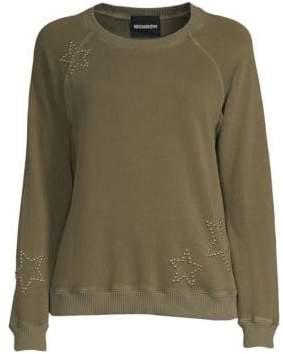 Monrow Vintage Raglan Sleeve Star Pullover