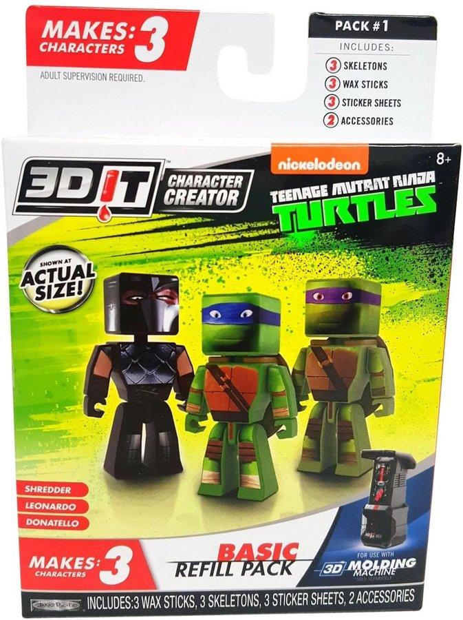 3DIT Character Creator Teenage Mutant Ninja Turtles Basic Refill A Toy Figure