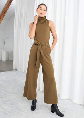 And other stories Cotton Blend Turtleneck Jumpsuit