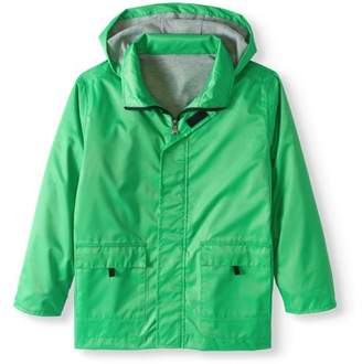 Generic Boy's Lined Rain Slicker Jacket