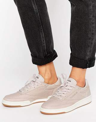 Reebok Club C Sneakers In Blush & Rose Gold $98 thestylecure.com