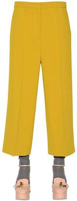 Rochas Cropped Cady Stretch Pants