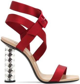 Diego Dolcini X Baccarat 105mm Baccarat Crystal Heel Silk Sandals